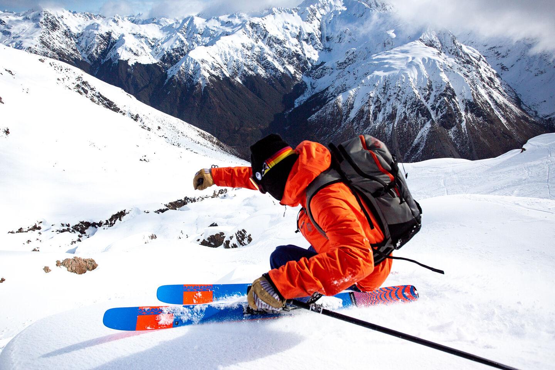 K2 action shot skier
