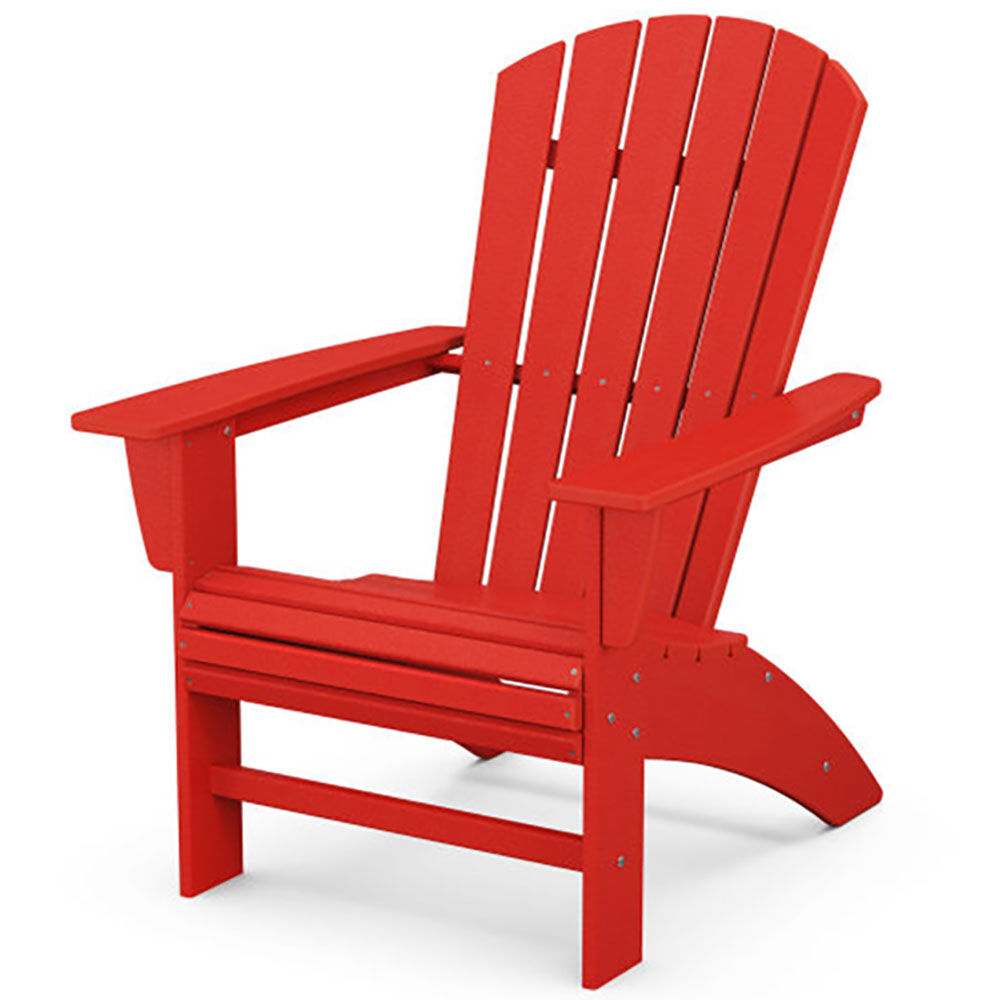 Red Adirondack Patio Chair made with Recycled Plastics