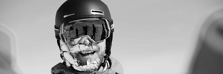 smith helmets and a snowy beard