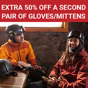 Extra 50% off a second pair of gloves/mittens