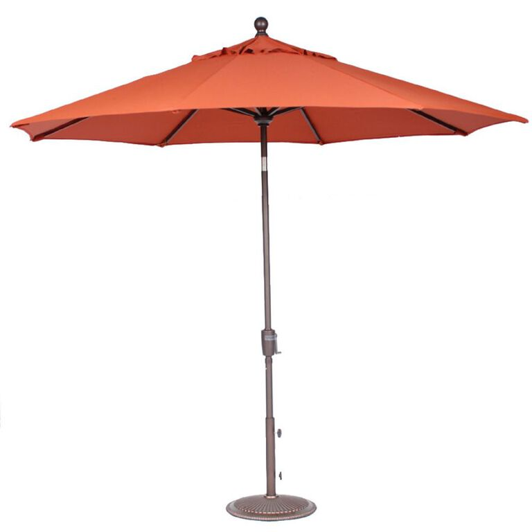 Orange Patio Umbrella with Base