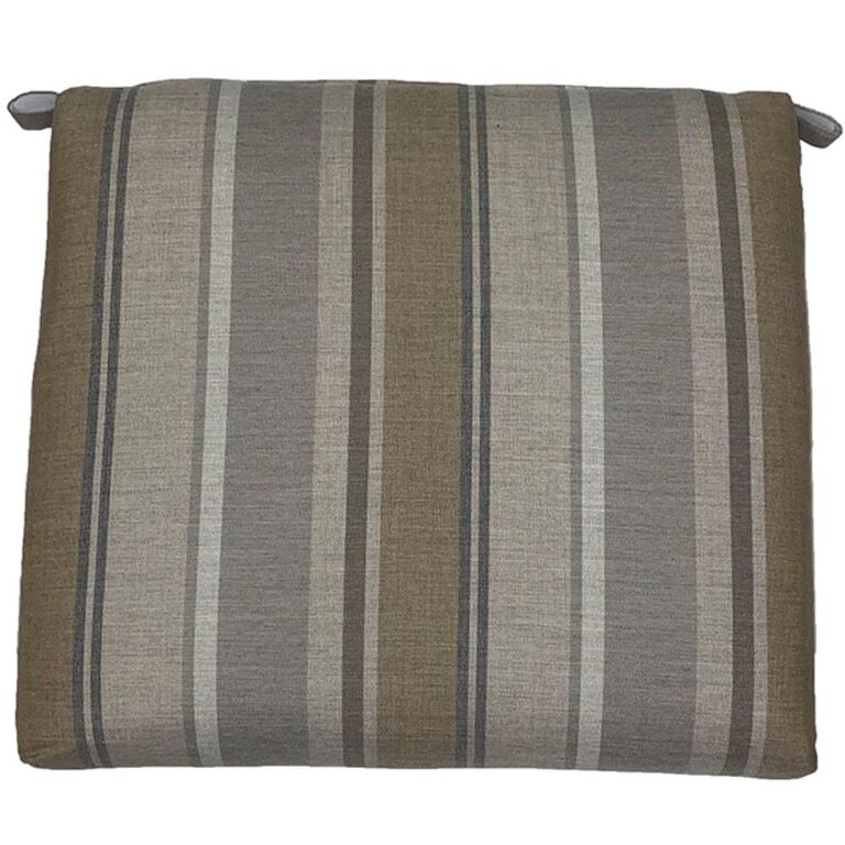 Grey and Brown Striped Seat Pad