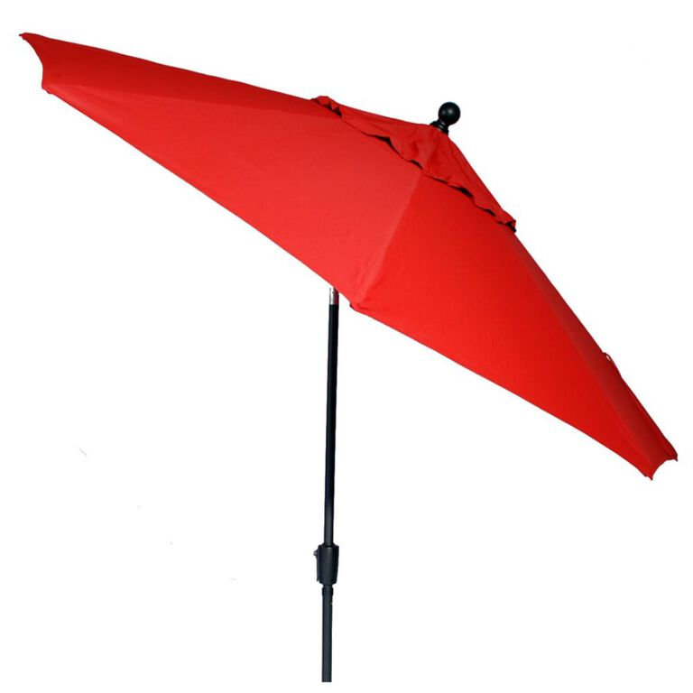 Red Patio Umbrella with Tilt option