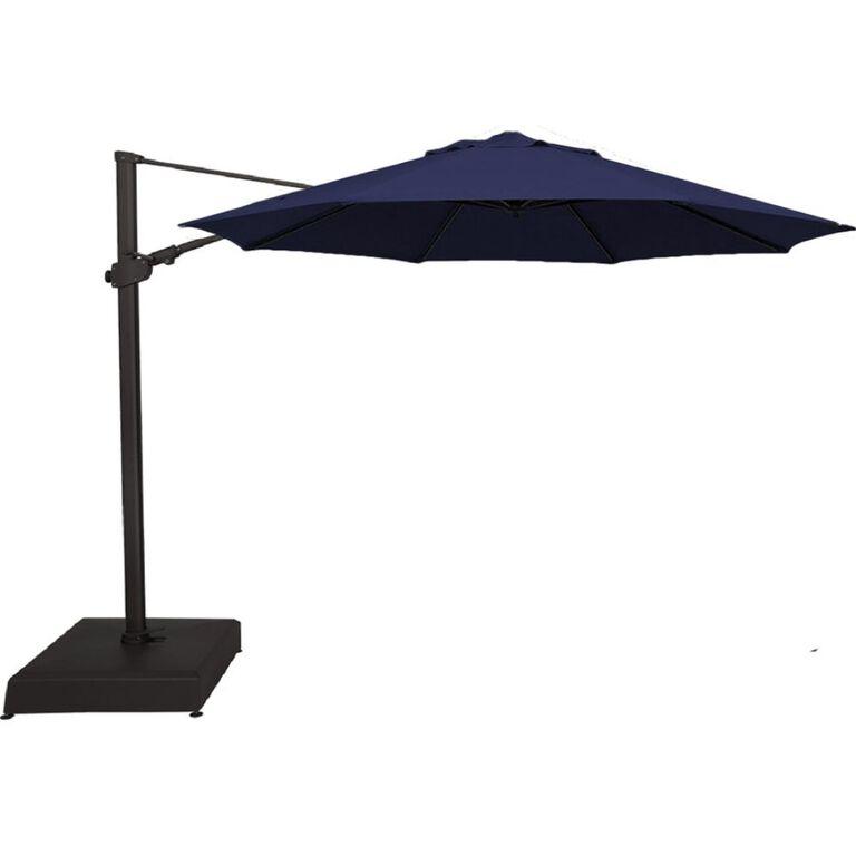 Dark Blue Cantilever Patio Umbrella
