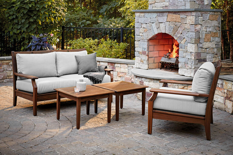 Opal by Jensen Outdoor deep seating Ipe wood patio furniture collection