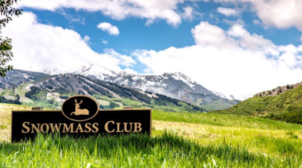 snowmass club sign