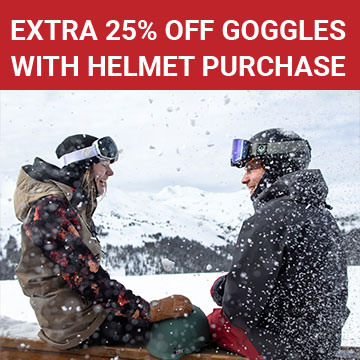 Extra 25% off goggles with helmet purchase