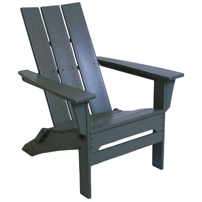 Grey Recycled Plastic Adirondack Chair