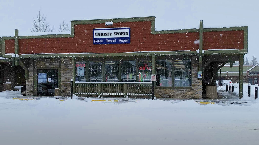 Christy Sports - Frisco Storefront in the winter