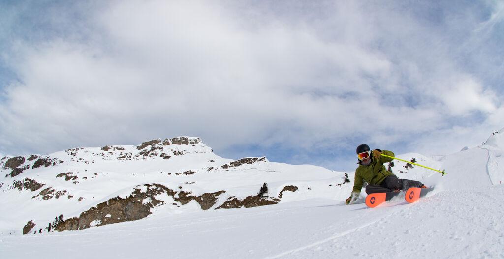 skier slaying pow