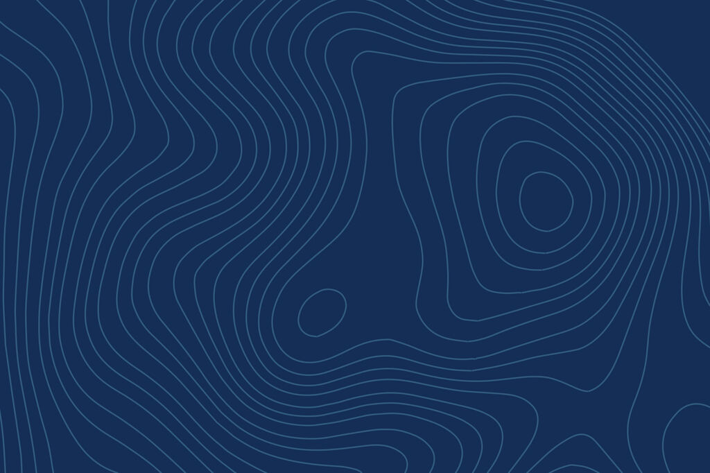 Dark Blue Topo Map