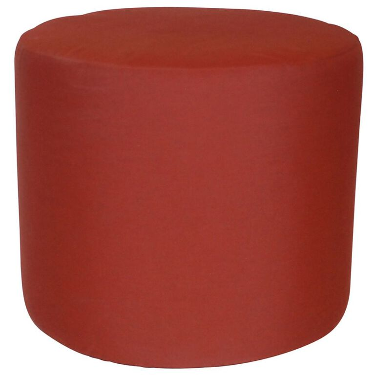 Cylinder Cushioned Stool in Henna Color