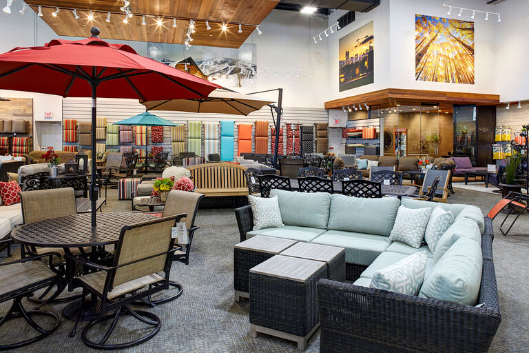 Christy Sports patio furniture showroom