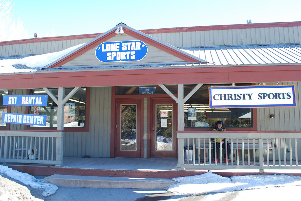 Christy Sports - Breckenridge Lone Star Storefront in the winter