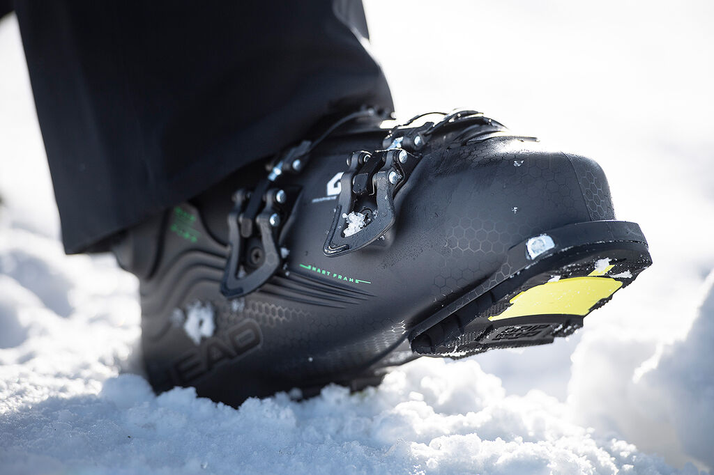 ski boot in snow