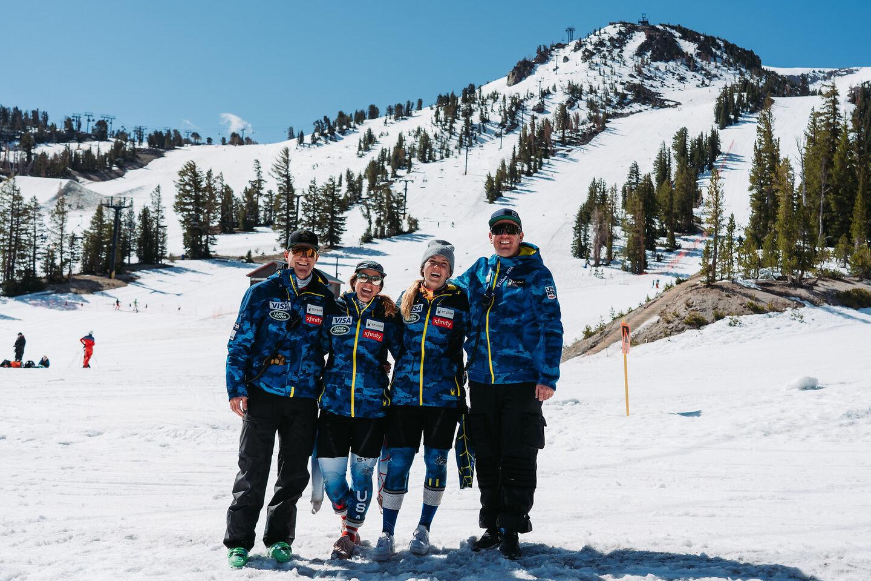 photo of us ski and snowboard team members