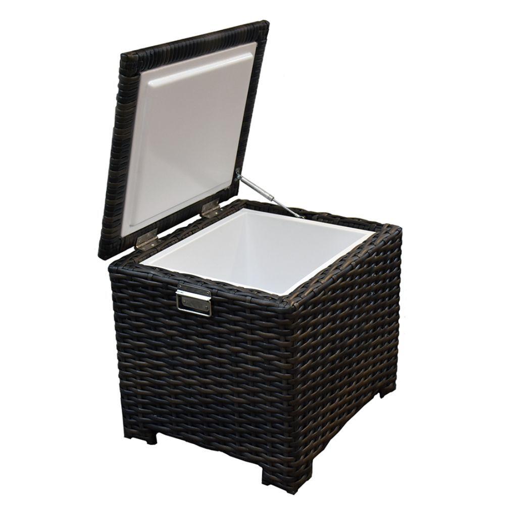 Dark Wicker Insulated Storage Chest