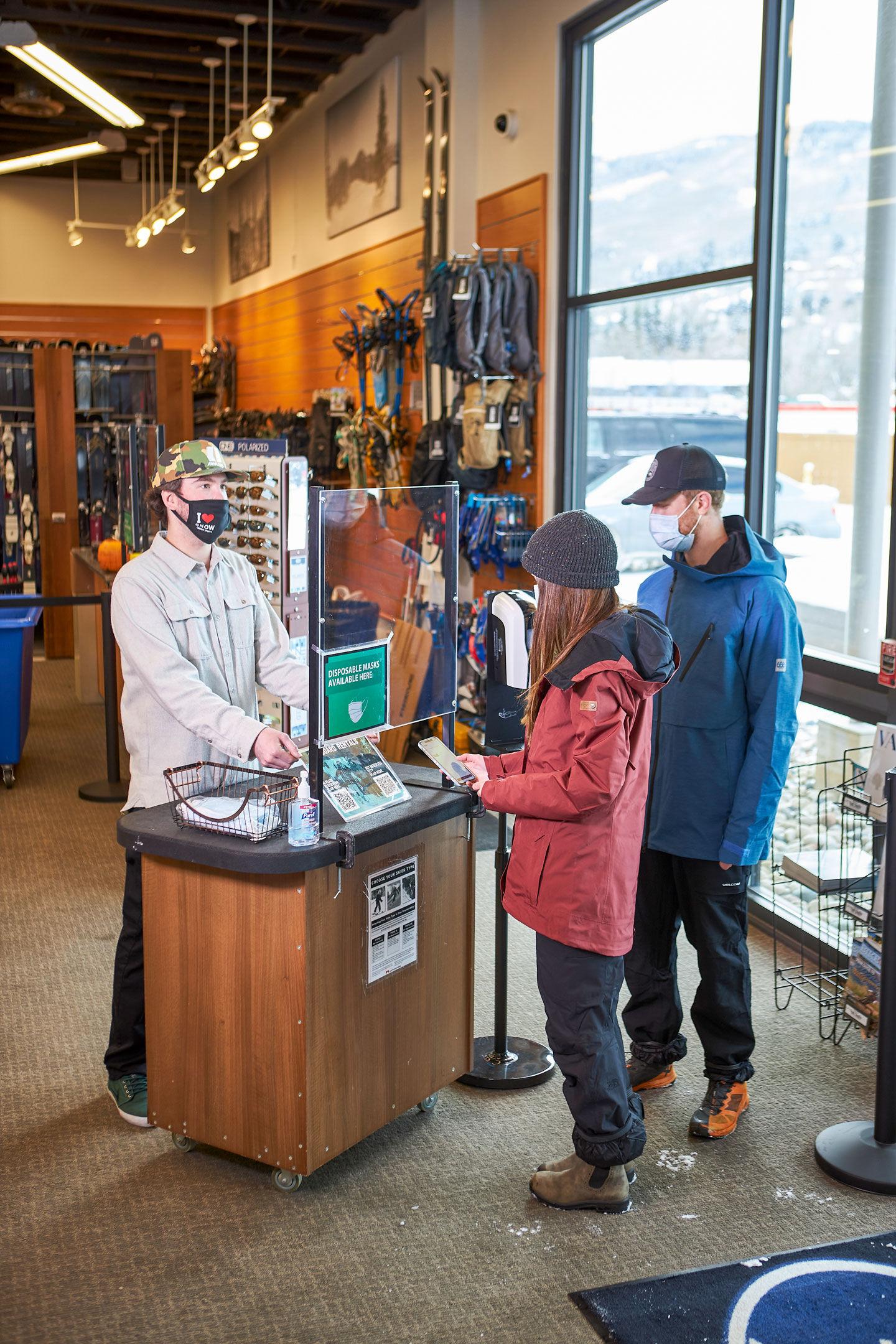 Safe rental process at Christy Sports