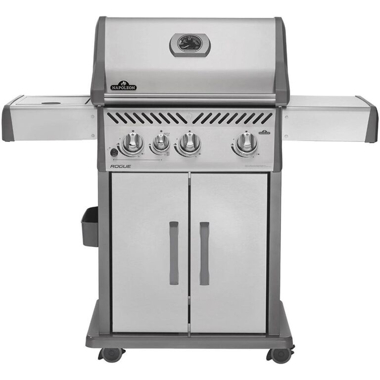 Stainless Steel Grill with Side Burner