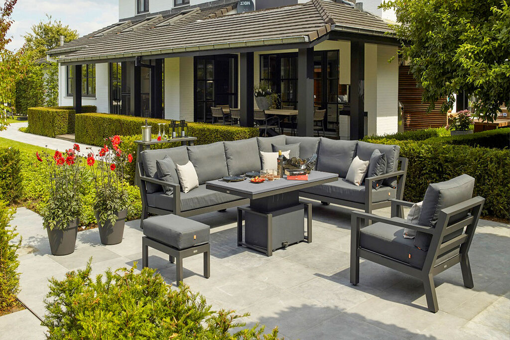 Timber by Life lounge furniture collection with outdoor cushions
