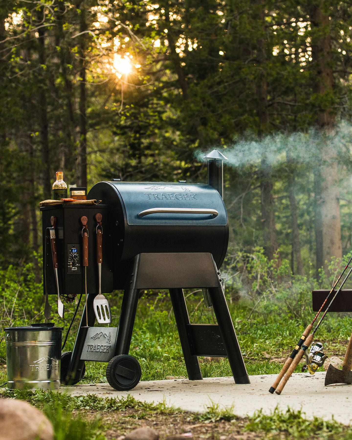 Traeger wood pellet smoker grill