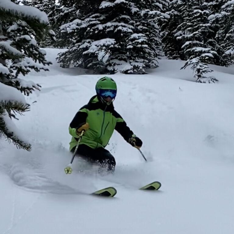 rope drop on peak 10 at breckenridge december 29