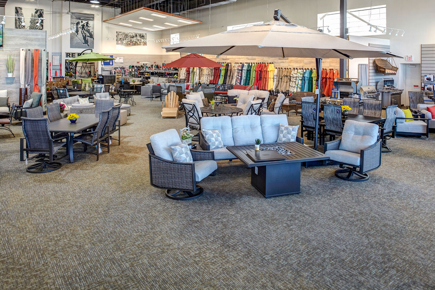 Christy Sports patio furniture showroom in Park Meadows