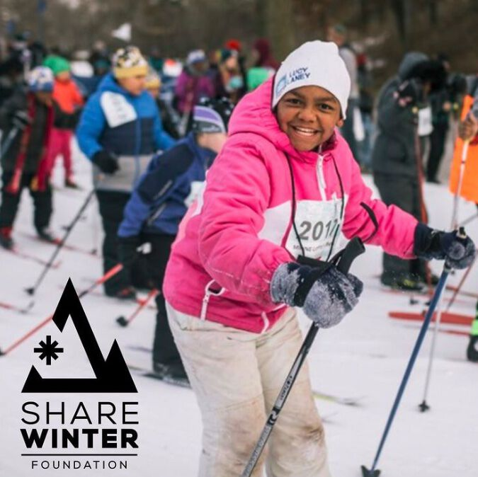 share winter learn to ski