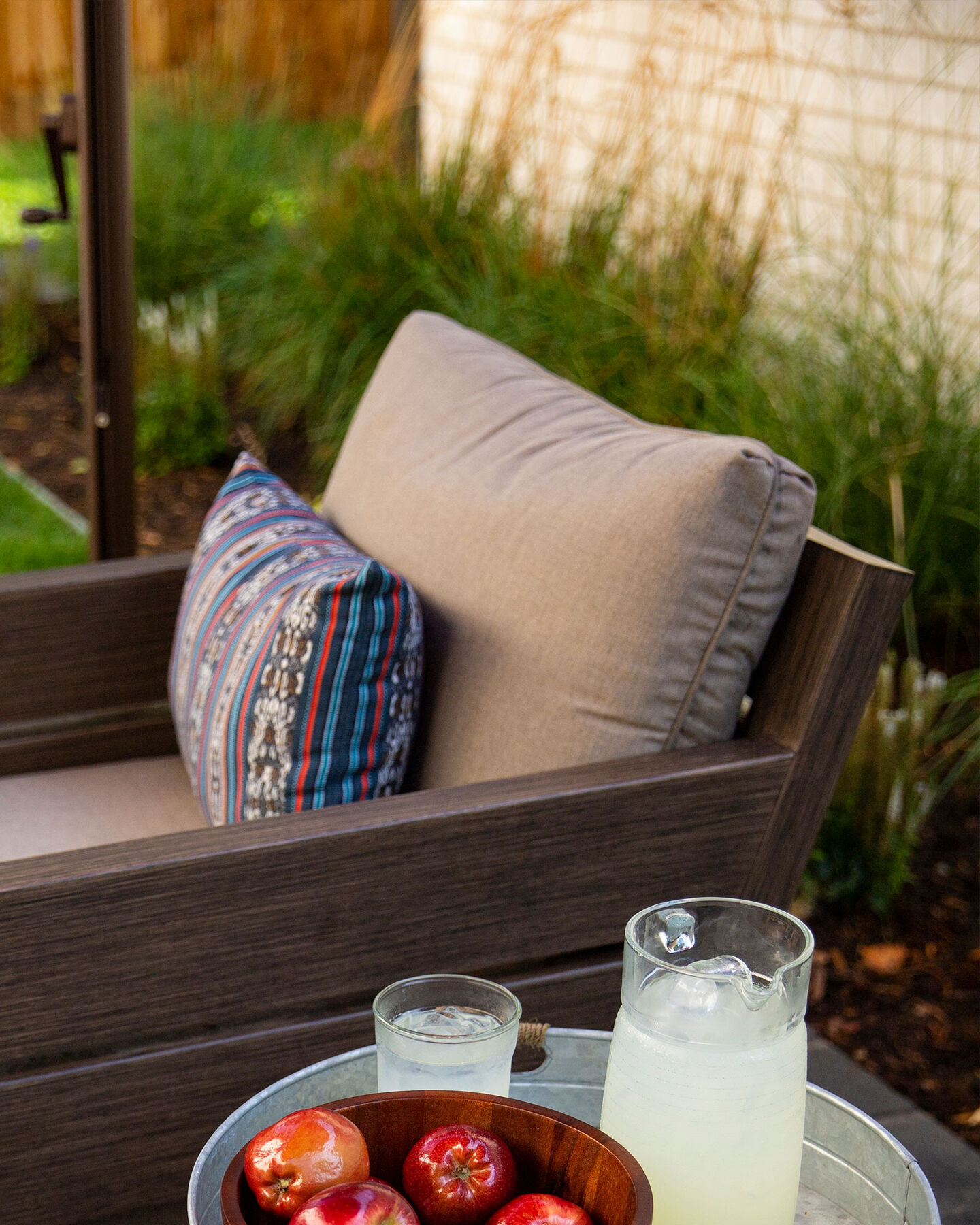Durable outdoor cushions & pillows with Sunbrella fabric