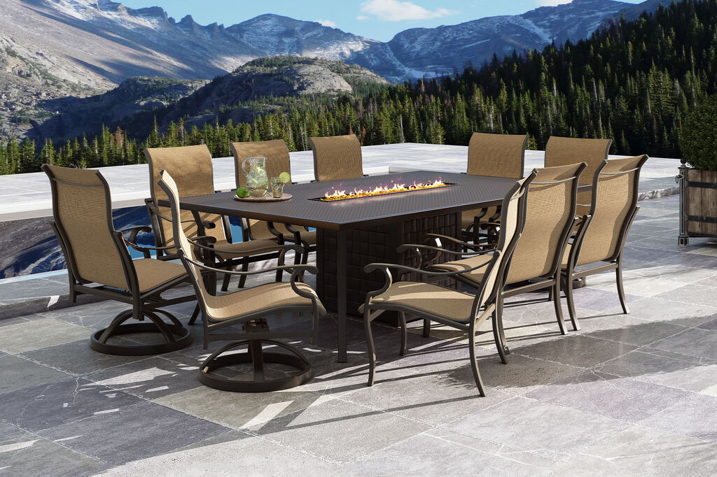 Monterey by Castelle sling dining furniture collection