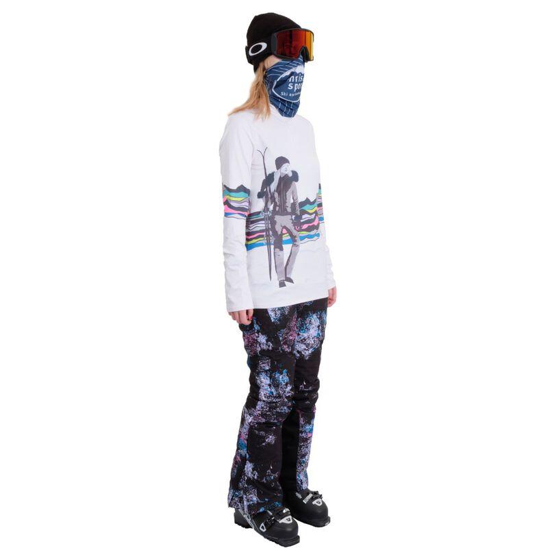 Spyder Moda Zip T-Neck Womens image number 2