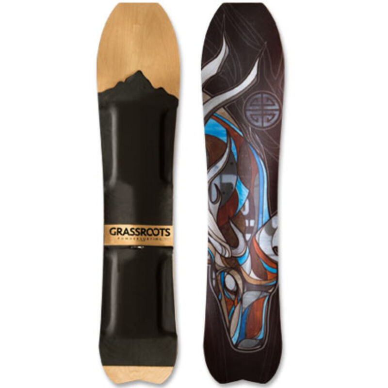 Grassroots Powdersurfing Caddy 150cm 3D Powsurfer Mens image number 2