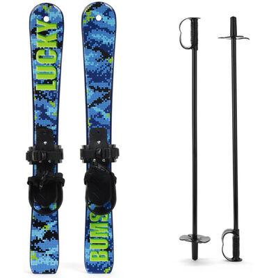 Lucky Bums Snow Skis w/ Poles - Kids - 16/17