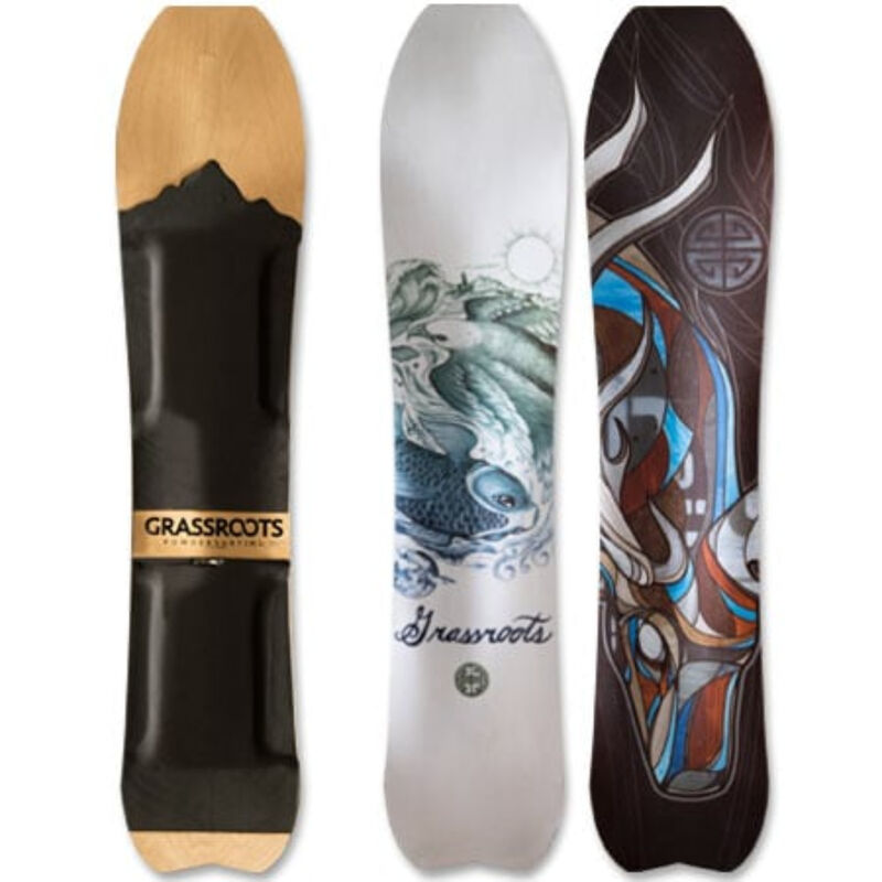 Grassroots Powdersurfing Caddy 150cm 3D Powsurfer Mens image number 0
