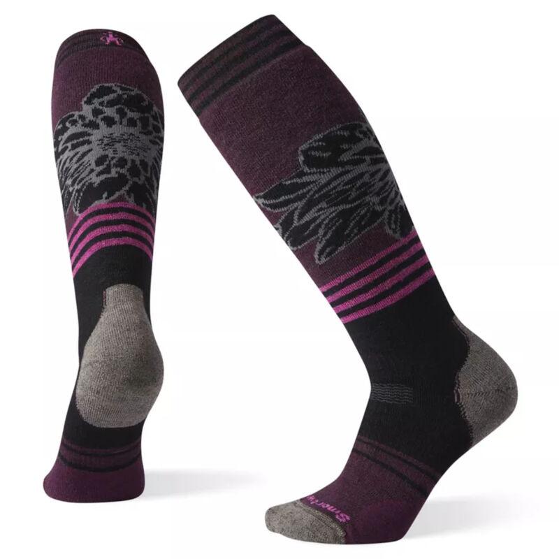 Smartwool PhD® Snow Medium Traced Dahlia Pattern Socks Womens image number 0