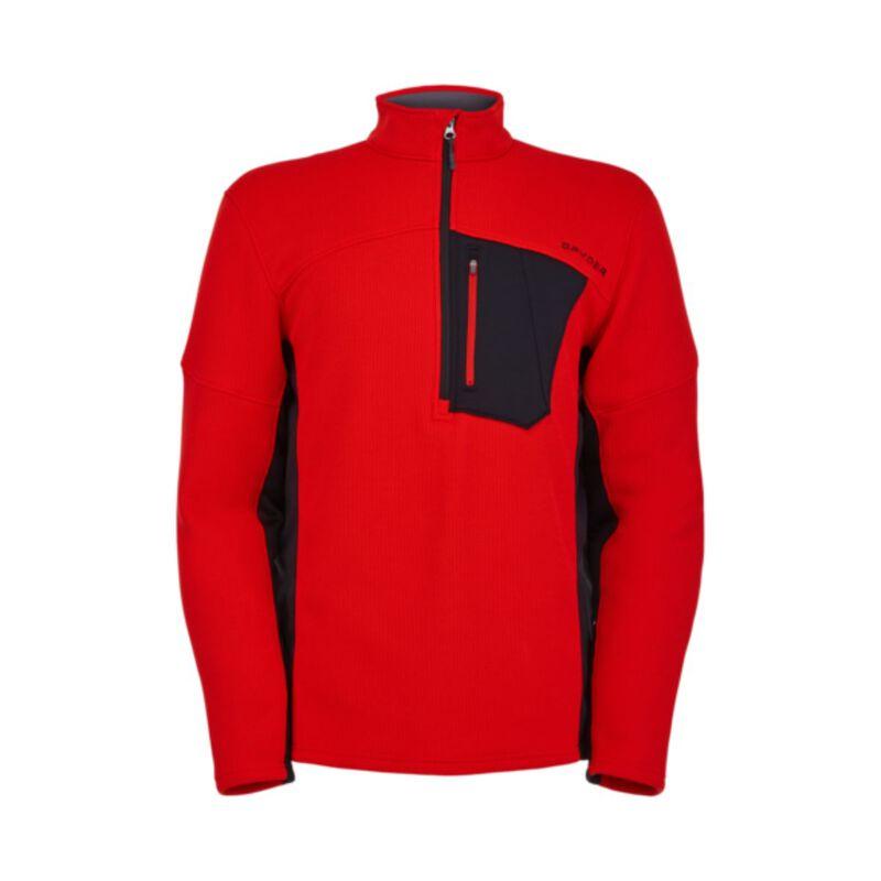 Spyder Bandit Half Zip Fleece Sweater Mens image number 0