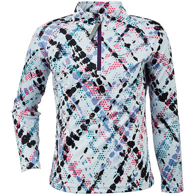 Spyder Surface Zip T-Neck - Girls 20/21