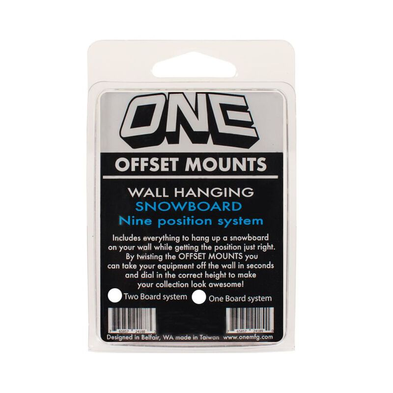 One Ball Snowboard Offset Mounts Wall Hanging System For 2 Boards image number 0