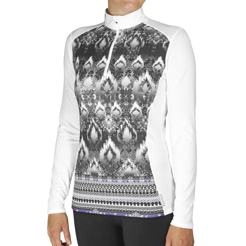 Hot Chilly's Micro Elite Print Zip T Womens image number 0