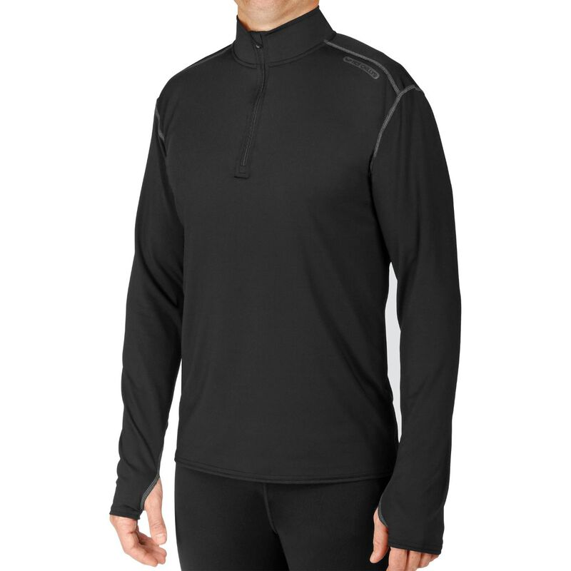 Hot Chillys Micro-Elite Chamois Solid Zip Tee Mens image number 0