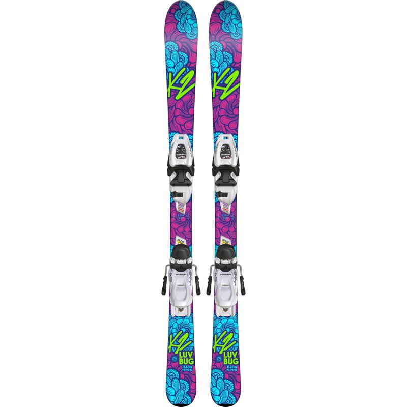 K2 Luv Bug with 4.5 FTD System Skis Girls image number 0