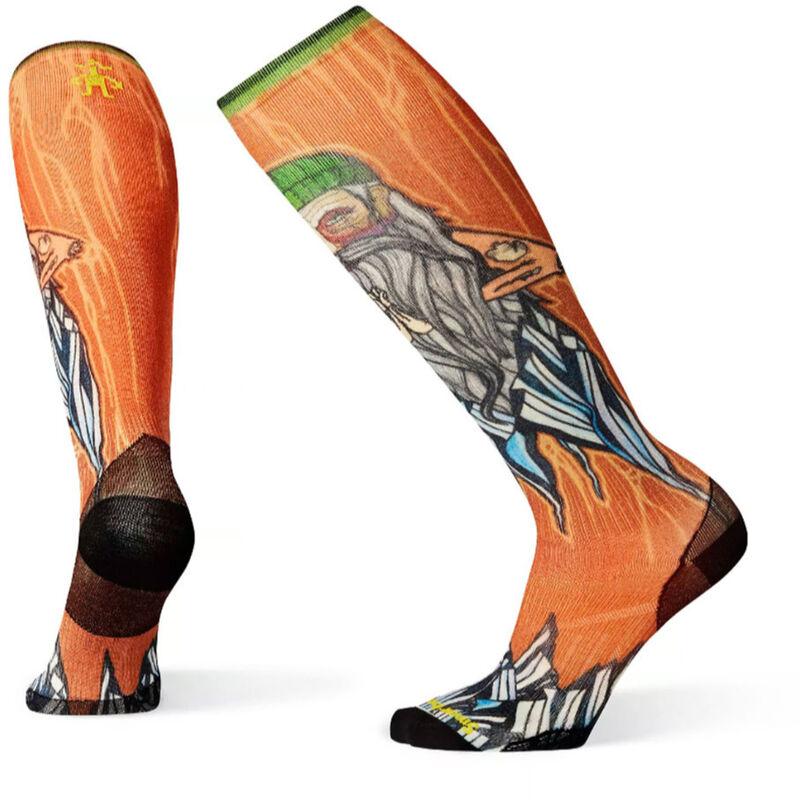 Smartwool PhD Ski Ultra Light Old Man Winter Print Socks Mens image number 0