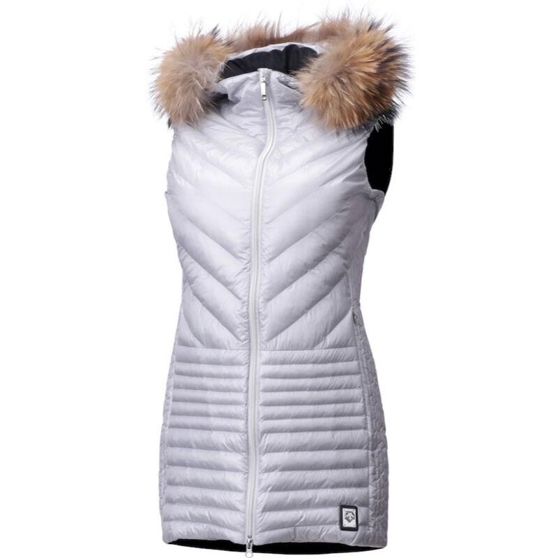 Descente Harper Real Fur Long Vest Womens image number 0