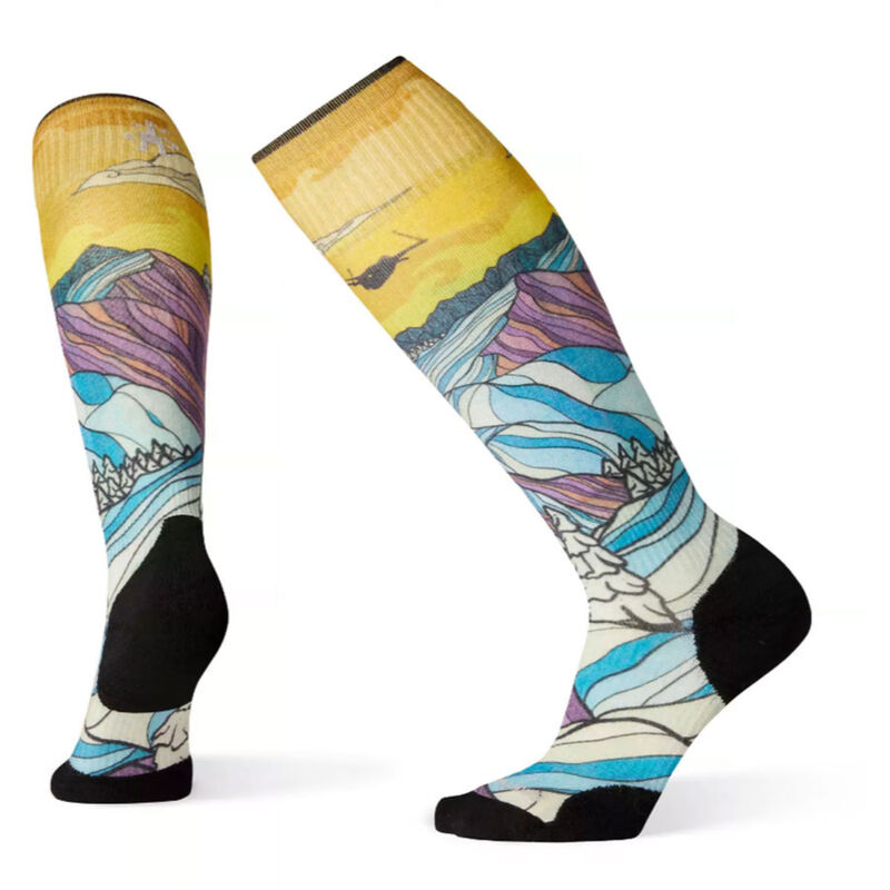 Smartwool PhD Ski Light Elite Afterglow Print Socks - Womens image number 0