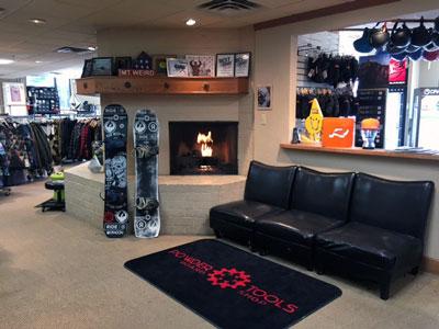 Powder Tools Snowboard Shop - Interior