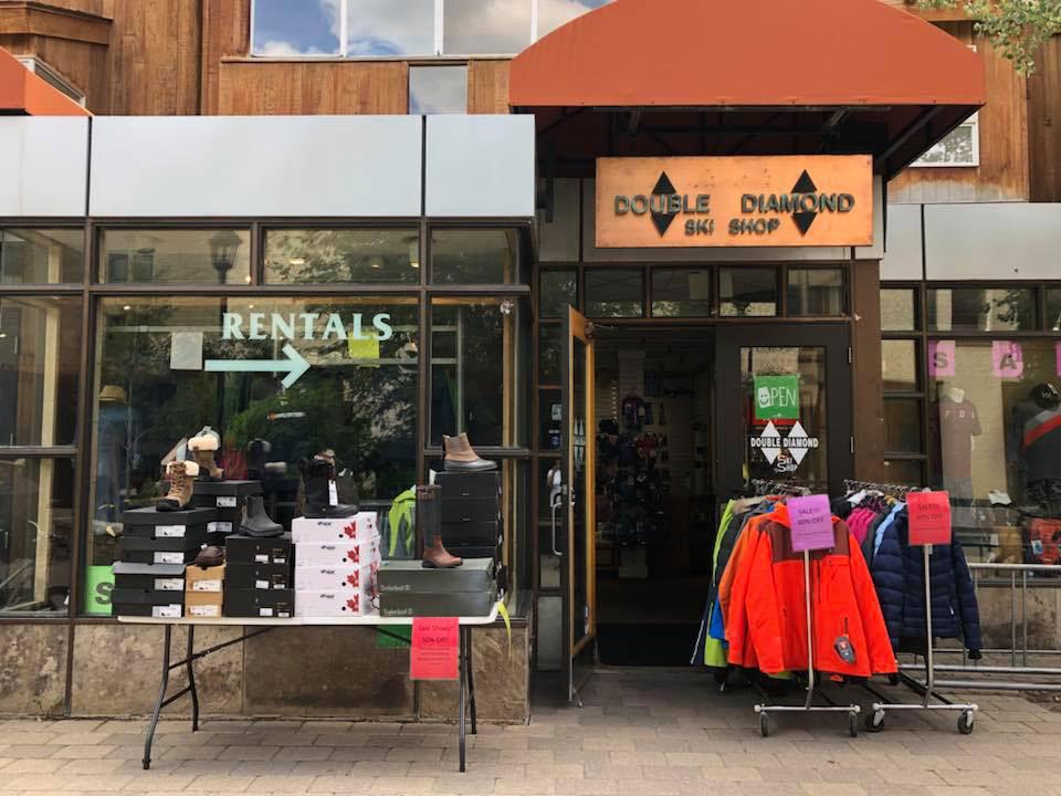 Double Diamond Ski Shop Storefront
